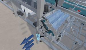 Représentation de la réalité virtuelle en application industrielle